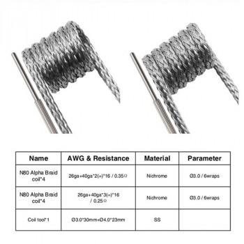 Hybrid Alpha Braid Coil 2 en 1 Geekvape - boîte de 8 coils - LE GOUT DE LA VAP