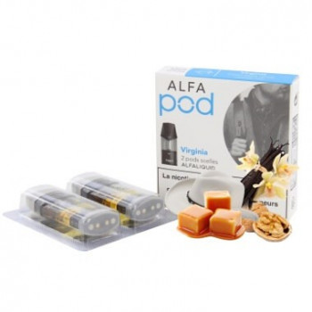 VIRGINIA NICOTINE POD - ALFALIQUID - RECHARGE ALFAPOD