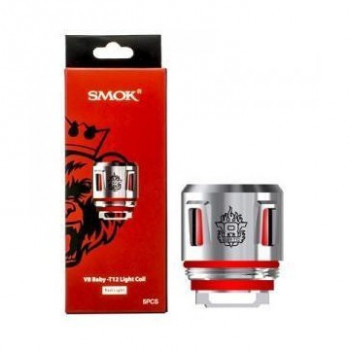 PACK 5 RESISTANCES V8 BABY T12 LIGHT SMOK