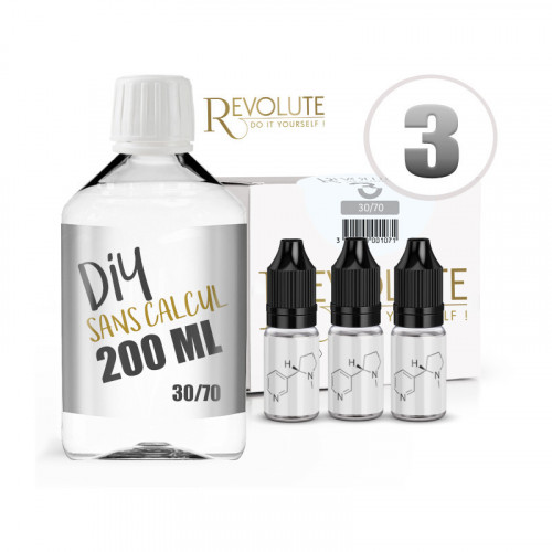 BASE PACK 200ML DIY 30/70 - REVOLUTE