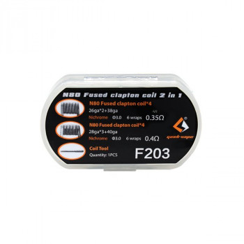 N80 Fused Clapton Coil 2 en 1 Geekvape