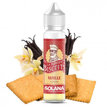 E-liquide Vanille Supreme 50ml La Fabrique A Biscuits Solana