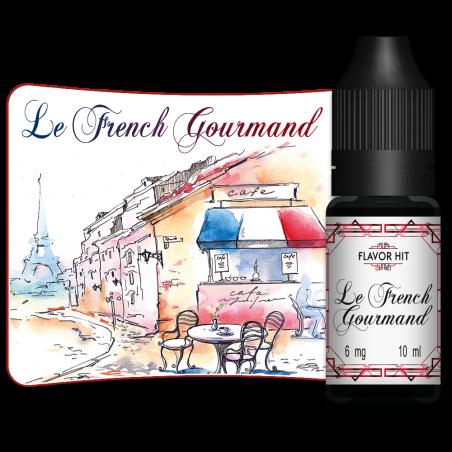 LE FRENCH GOURMAND - E-LIQUIDE EN FLACON DE 10ML PAR FLAVOR HIT - LE GOUT DE LA VAP
