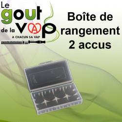 BOITE TRANSPORT DE RANGEMENT ET DE SÉCURITÉ POUR 2 ACCUS - LE GOUT DE LA VAP