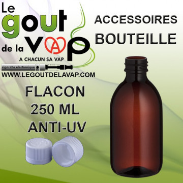 FLACON PLASTIQUE VIDE 250 ML POUR E-LIQUIDE - LE GOUT DE LA VAP