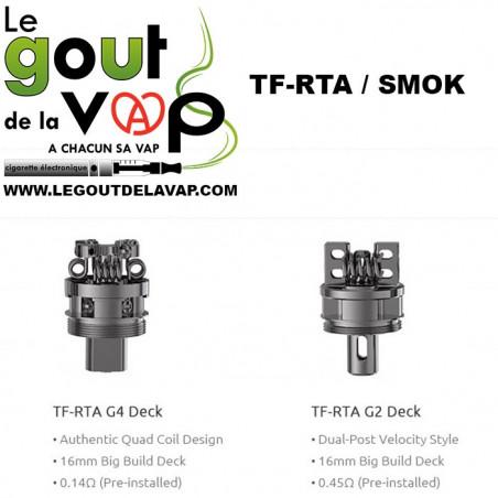 PLATEAUX RECONSTRUCTIBLE TF-G2 ET OU TF-G4 CIGARETTE ELECTRONIQUE - LE GOUT DE LA VAP