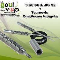 TIGE COIL JIG V2+ AVEC Tournevis Cruciforme Intégrée - LE GOUT DE LA VAP