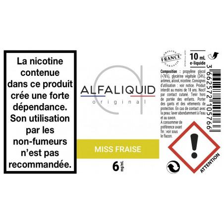 MISS FRAISE E-LIQUIDE ALFALIQUID - LE GOUT DE LA VAP