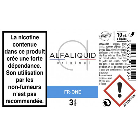 FR ONE E-LIQUIDE PAR ALFALIQUID - LE GOUT DE LA VAP