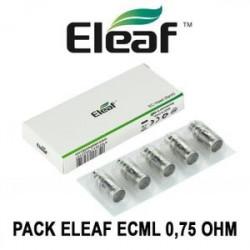 PACK 5 RESISTANCES ECML POUR IJUST 2 / IJUST S / MELO 2 / MELO 3 / MELO 3 MINI PAE ELEAF